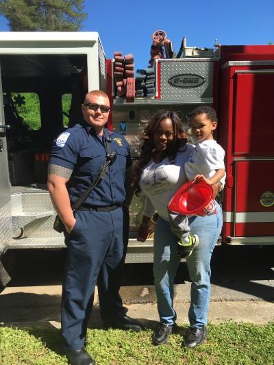 Union City Fireman, Melissa & Kayden
