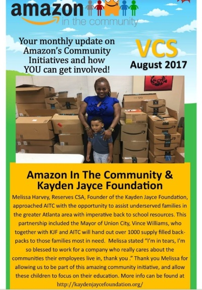 2017 Amazon & The Kayden Jayce Foundation