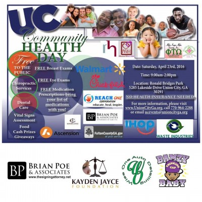 KJF sponsored with Union City Mayor Vince Williams for Community Health Day